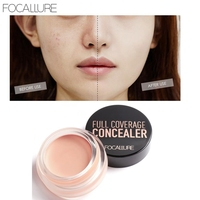 Focallure 12pc/lot Pro Face Contour Concealer Cream Waterproof Lady Dark Skin Full Cover Face Foundation Makeup Concealer