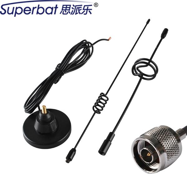 Superbat 850/1900/900/1800/2100 Mhz GSM/UMTS/CDMA/3G coche Antena Señal Booster 9dbi N Macho para GSM/3G Dispositivos 3 M Cable
