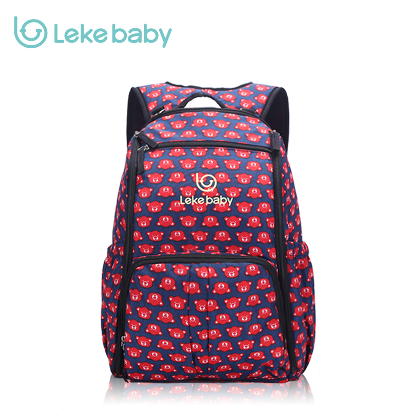 LEKEBABY Fashion Tote Baby Bags Large Changing Diaper Bag Organizer Nappy Bags Baby Stroller Bag Mother Travel Backpack fashion multifunctional baby chair stool diaper pram bag convenient travel organizer stroller bags diaper bag tote changing bag