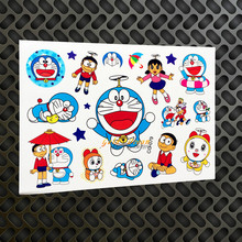 Japan Harajuku Doraemon Temporary Tattoo Stickers, Children Robert Cat Tattoo Sticker Dorami Waterproof Cartoon Tatoo Body Art