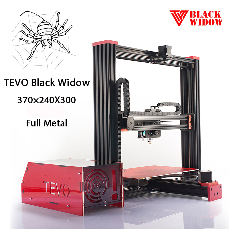 2016 Newest And Hot Sale Tevo Black Widow 3D Metal Printer Kit Open Source Large 3d