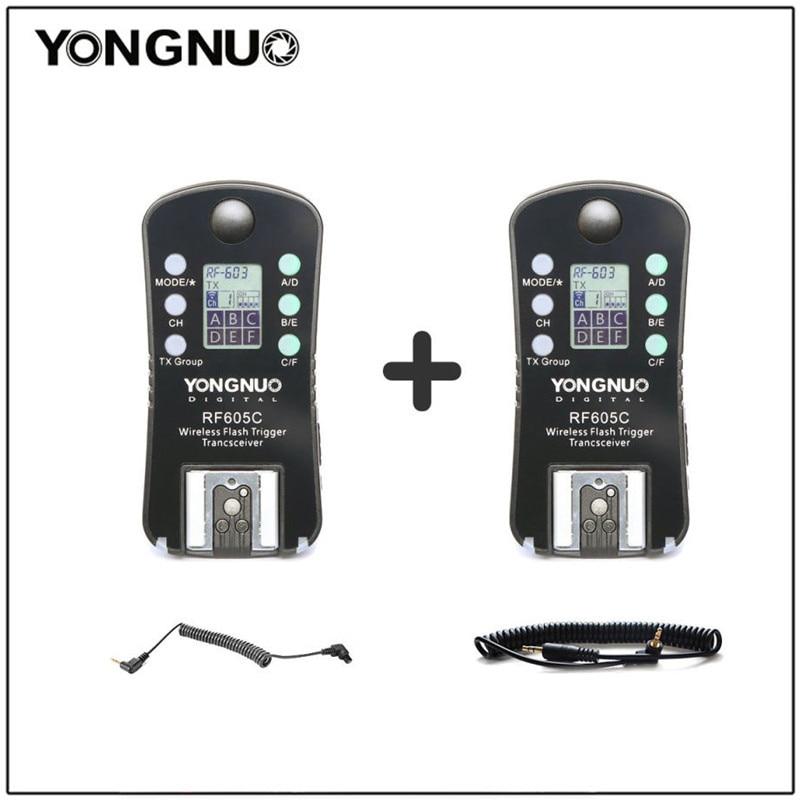 YONGNUO RF605C RF-605C Wireless Flash Trigger shutter with LCD for Canon 300D/350D/400D/450D/500D/550D/1000D 1100D 1000D 650D