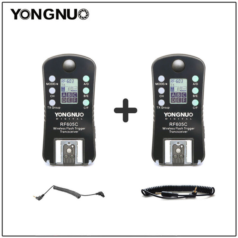 YONGNUO RF605C RF-605C Flash Sans Fil Trigger shutter avec LCD pour Canon 300D/350D/400D/450D/500D/550D/1000D 1100D 1000D 650D