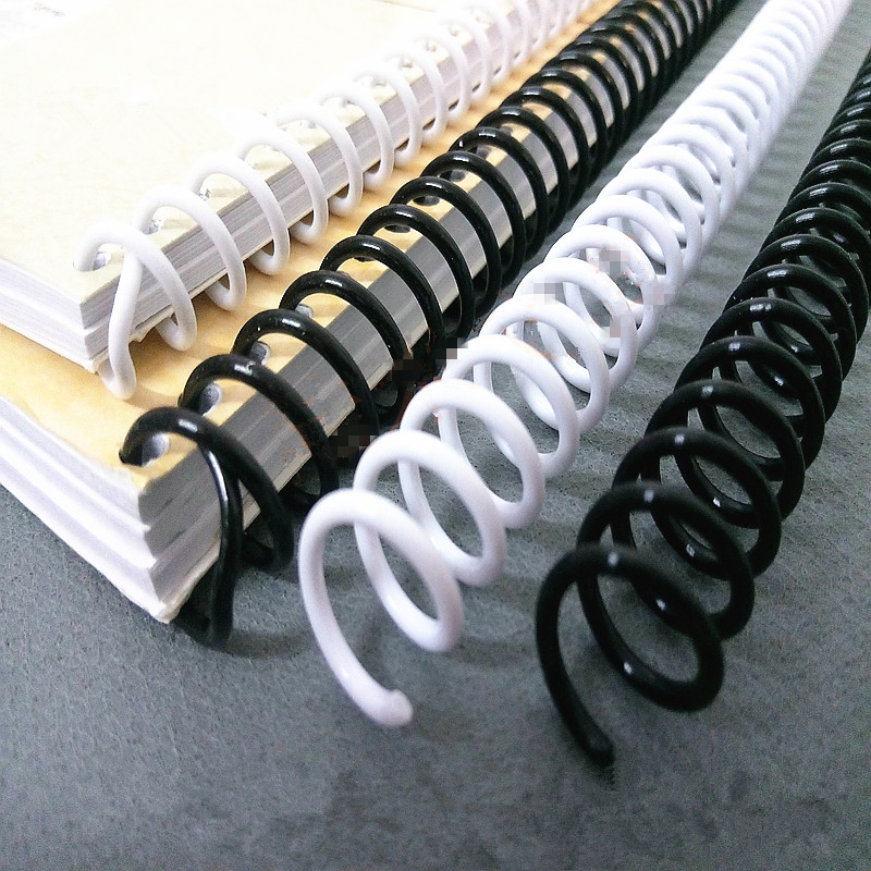 A4 46 Hole Loose-leaf Plastic Binding Ring Single Coil Spring Spiral Rubber Ring Punch Ring For Notebook School Office Supplies