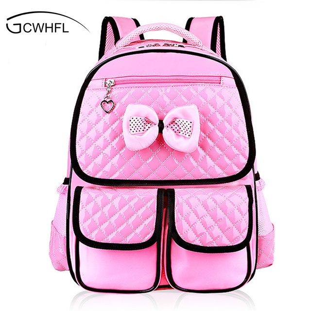 caad33237544 High Quality Large School Bags for Girls Cute Children Backpacks Primary Students  Backpacks Waterpfoof Schoolbag Kids Book Bag