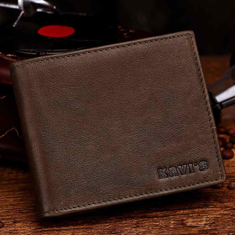 KAVIS кожаные кошельки мужские брендовые кожаные визитницы с Мужской Портмоне на молнии Walet Portomonee Rfid портфель маленький мини