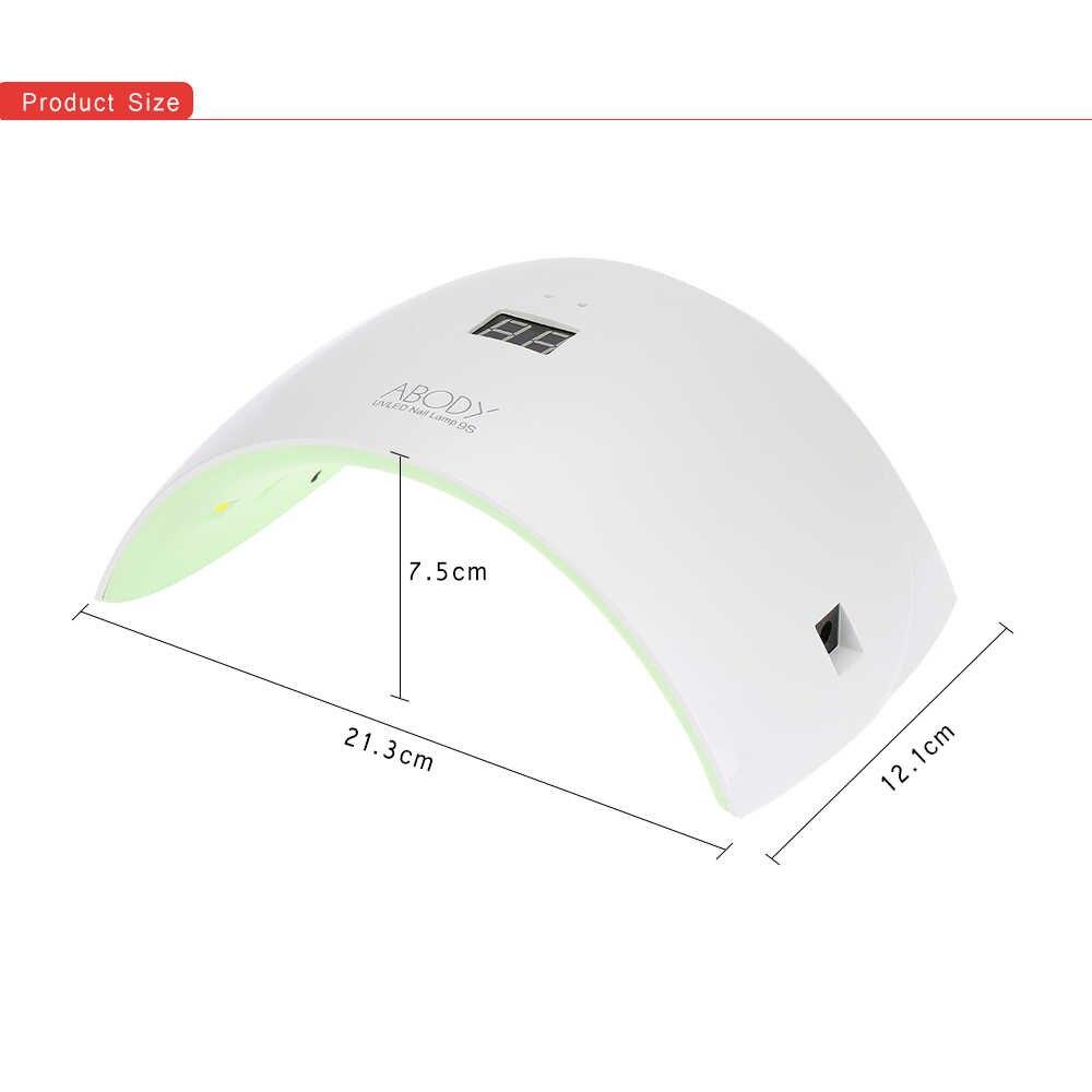 Abody SUN9S 24W LED Nail Dryer White Light Fast Curing Gel UV Lamp Nail Art Light Machine Salon Manicure Nail Tool US/EU Plug