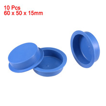 Uxcell Blue 10pcs PE 50mmx15mm 40mmx15mm Round Head Hole Waterproof Stoppers Tapered Unthreaded Caps Hold Plugs Easy to Remove