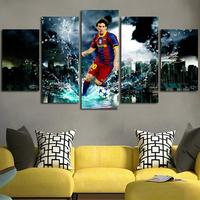 5pcs Soccer Superstar 5D DIY Diamond Painting Lionel Messi Diy Cross Stitch Diamond Embroidery Set Needlework