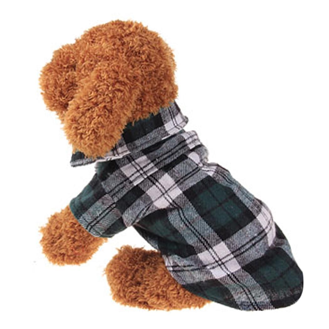 Dress up diary baju pelaut - Baru Kedatangan Musim Gugur Musim Semi Lucu Kemeja Kotak Kotak Pakaian Anjing Menolak Kerah T