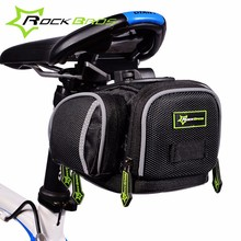 Rockbros Bicycle Saddle Bag Portable Rear Pouch Package +Rain Cover Road Mountain Bike Bag Panniers Cycling Seatpost Storage Bag