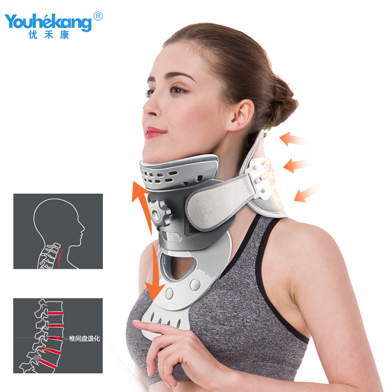 Youhekang Heating Cervical Traction Neck Support Adult Correction Vertebral Pathology Therapeutic Home Medical Moxibustion