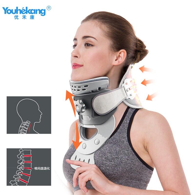 Youhekang calentamiento cuello de tracción Cervical soporte corrección adulto patología Vertebral terapia hogar médico moxibustión-in Tractor de cuello from Belleza y salud    1
