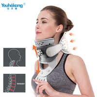 Youhekang chauffage pince cervicale cou dispositif de Traction réglable Colar cou Cervical civière colonne vertébrale correcteur cou soutien