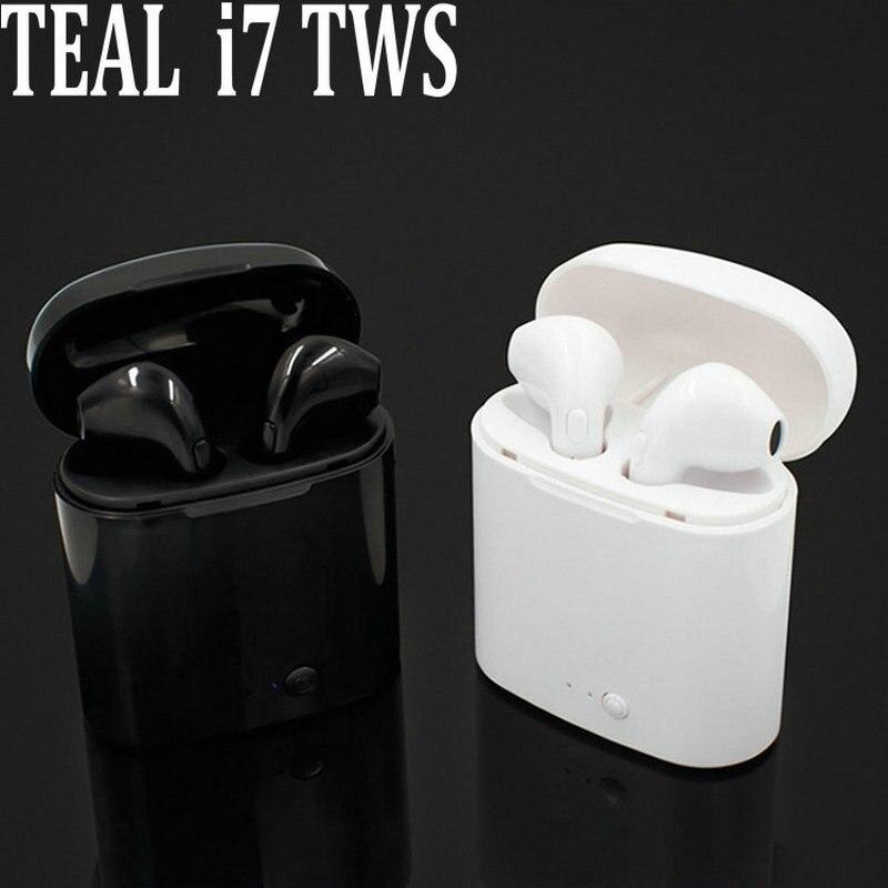 i7s TWS Bluetoooth Earbuds Ture Wireless Earphone Twins Mini In-ear Earpiece Cordless Headset For iPhone 8 Samsung Xiaomi Huawei