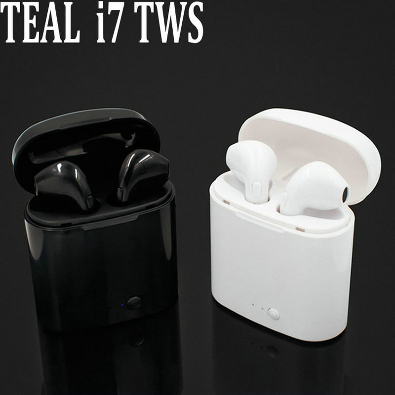 i7s TWS Bluetooth Earbuds Ture Wireless Earphone Twins Mini In-ear Earpiece Cordless Headset For iPhone x Samsung Xiaomi Huawei