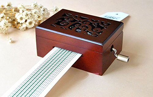 DIY Compose Music Spectrum Hand Crank Operated Punched Tune Paper Tape Music Box Movement + Hole Puncher + 20 Note Paper Strips