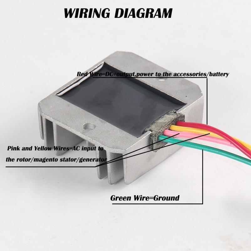12v voltage regulator rectifier 4 wires atv gy6 50 150cc for rh aliexpress com Mopar Alternator Wiring Diagram Nippondenso Voltage Regulator Wiring Diagram