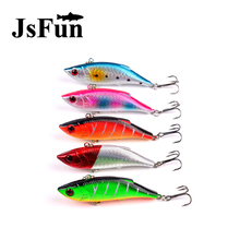 JSFUN 5pcs/lot Rattlin Fishing Lure 10g 8cm Winter Fishing 5 Color With Two Treble Hooks Fishing Tackle Peche a la carpe FU338