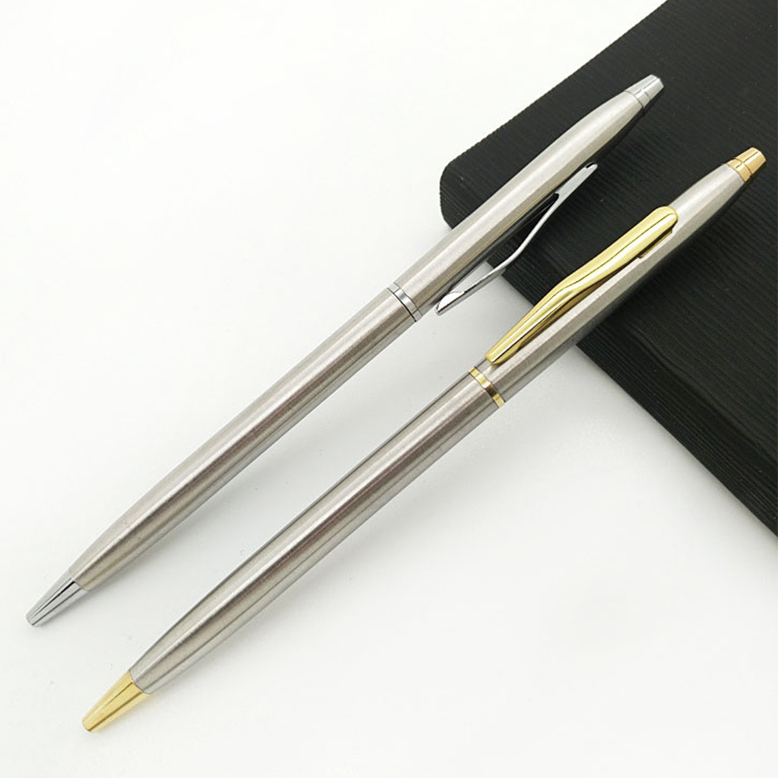Pens, Pencils & Writing Supplies Ballpoint Pens Fangnymph Stainless Steel Rotating Metal Ballpoint Pen Stationery Ballpen 0.7mm Black Pen Office & School Supplies Making Things Convenient For The People