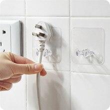3 шт. настенный крюк для хранения питания розетка Держатель дома провода вилки клейкая вешалка для дома и офиса хранения стеллажи 9115