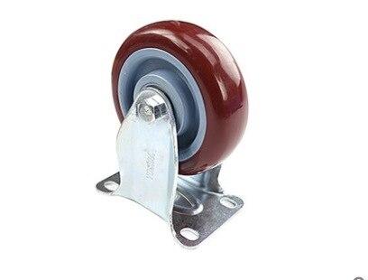 2 UNIDS/LOTE Rueda D: 75mm (3 pulgadas) Pesado rueda Direccional Universal de Doble Cojinete de la Rueda giratoria
