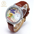 Miss Keke Fashion Children Cartoon 3D Clay Watch Dog Animal Cute Girls Students Watches Leather Casual Student Wristwatches 621