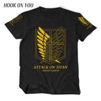 Japanese Anime Attack On Titan T Shirt Cosplay Costume Shingeki No Kyojin Cartoon T Shirt Tee
