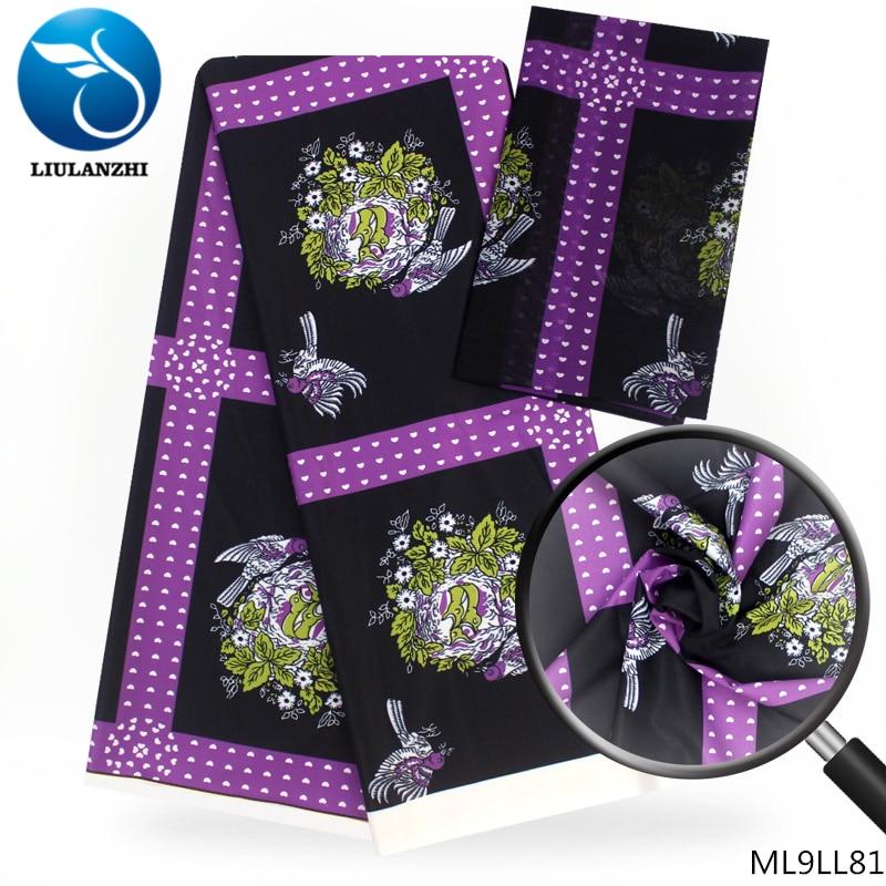 LIULANZHI tissu africain néerlandais cire design tissu Modal imprimé tissu en mousseline de soie audel tissus 4 + 2 yards/lot ML9LL81-87