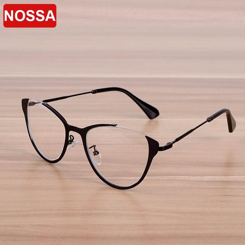 NOSSA Fashion Cateye Women's Glasses Frame Men's Excellent Eyeglasses Frames Prescription Eyewear Frame Clear Lens Retro Goggles