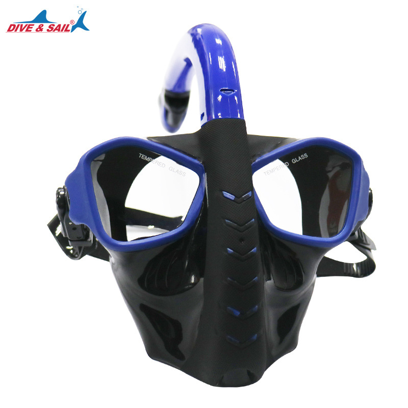 2018 Alien design underwater Snorkel Anti Fog Full Face Respiratory snorkeling mask diving mask for adult 180 view