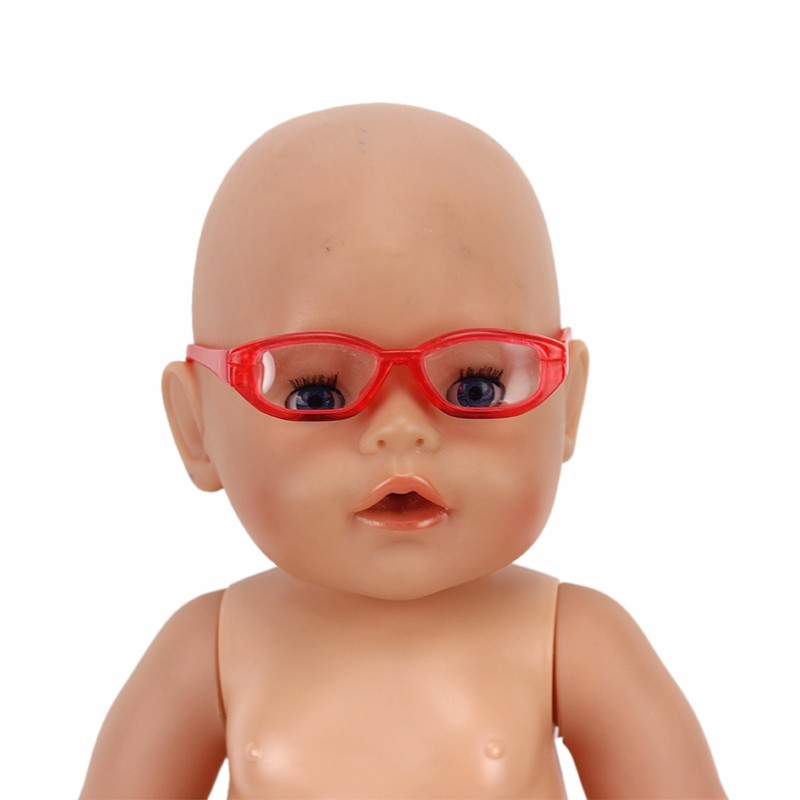 Hot Sell red American girl doll sunglass fits for 43cm New Born Baby Zapf or 18
