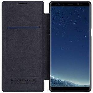 Image 5 - Nillkin Odwróć Case Do Samsung Galaxy Note 8 Qin Serii PU Skóra Pokrywa 4sfor Samsung Note 8 Przypadku