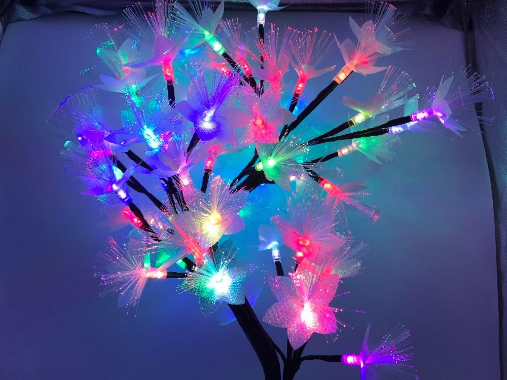 9pig 56 Leds Bunte 7 Farben Rgb Led Licht Nacht Schlafzimmer Nachtlicht Tisch Lampe Hause Dekoration Simulation Baum Weihnachten GroßE Auswahl;