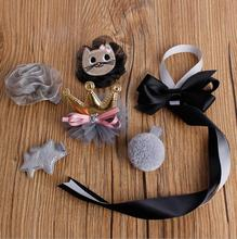 Top quality Girls hair accessories kids hair clips hair bow crown flower cat hairpin barrette headwear on storage holding band