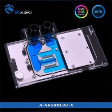 Radiator Water-Block BYKSKI RX580-DUAL-O8G ASUS Copper RGB Graphics-Card Light/full-Cover