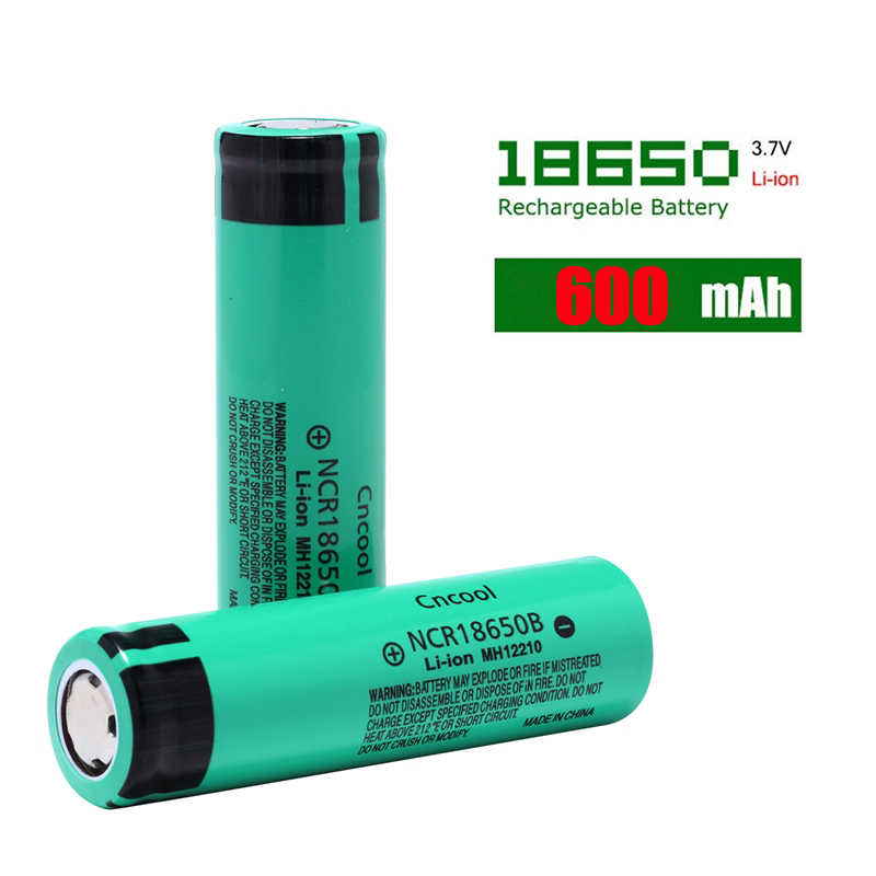 Cncool 100% New Original NCR18650B 3.7 v 600 mah 18650 Lithium Rechargeable Battery Real Capacity For Flashlight batteries