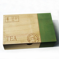 Retro Wood Tea Storage Box Wooden Box For Tea Six Grids Debris Jewelry Storage Box Home Storage Organizer