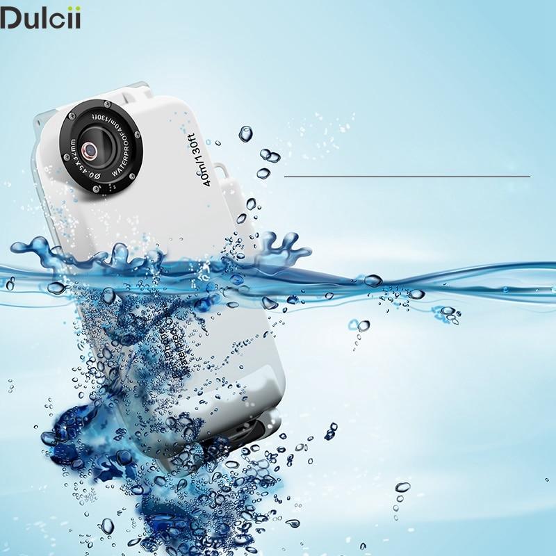 Dulcii Boîtier Étanche pour iPhone 7 4.7 pouce Shell MEIKON 40 m/130ft IPX8 Sous-Marine Boîtier Étanche Plongée Couverture pour iPhone7 Sac