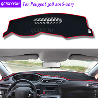 For Peugeot 308 2016 2017 Dashboard Mat Protective Interior Photophobism Pad Shade Cushion Car Styling Auto Accessories