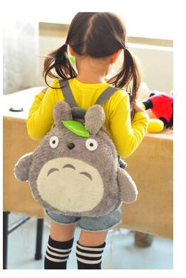 Girls Kawaii Green Leaf Backpacks Cute My Neighbor Totoro School Book Bags Soft Plush Kids Children Christmas Festival Gift my christmas cd