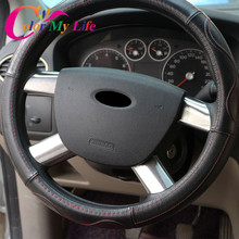 Color My Life Stainless Steel Car Steering Wheel Decoration Cover Trim Sticker for Ford Focus 2 MK2 2005 – 2011 Accessories