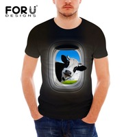 FORUDESIGNS 2017 Fashion Summer Men S T Shirt Fitness O Neck Comfortable Tees 3D Cow Horse