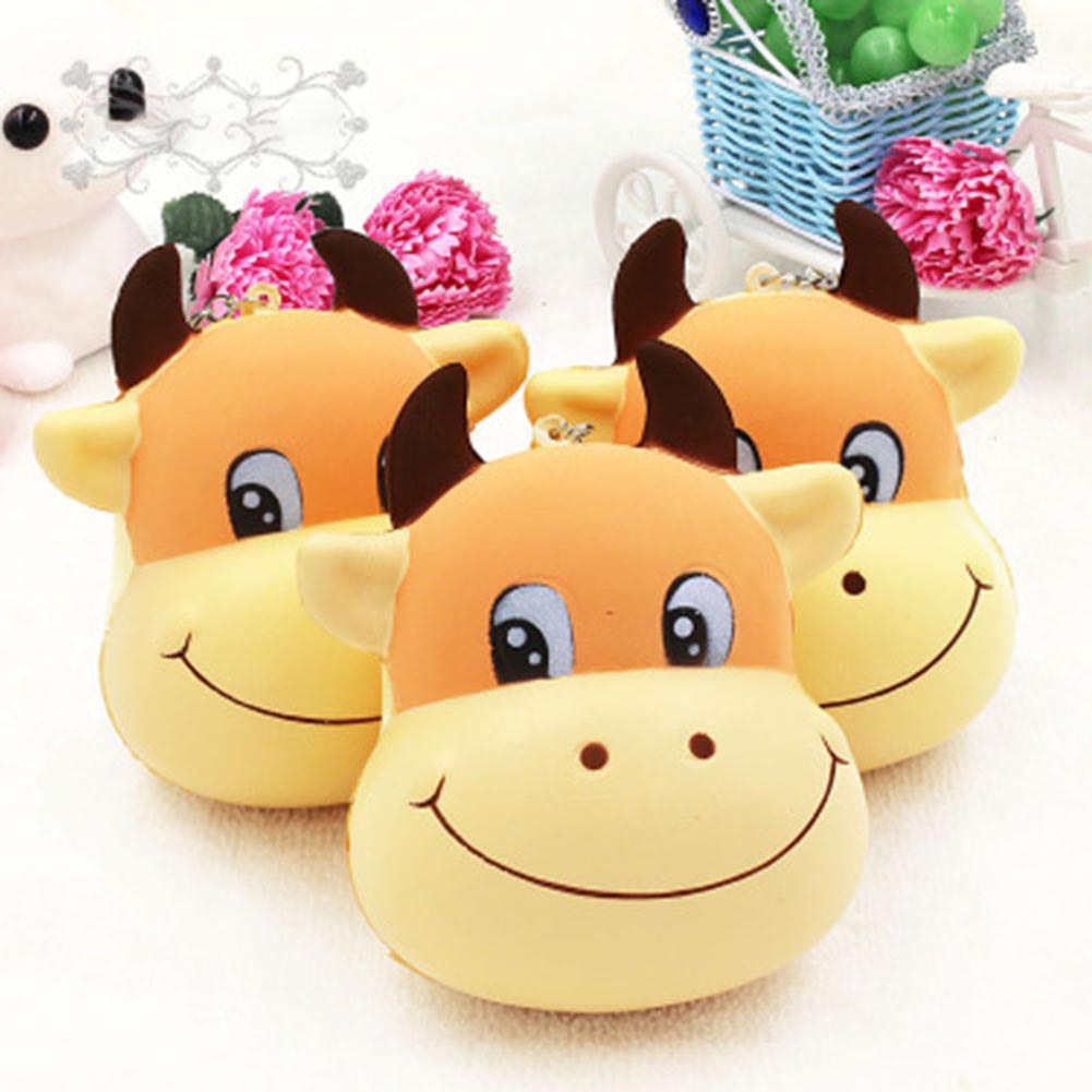 New Arrival Cute Cattle Slow Rising Cream Scented Decompression Toys For Children Releasing Stress Playing Fun Drop Ship