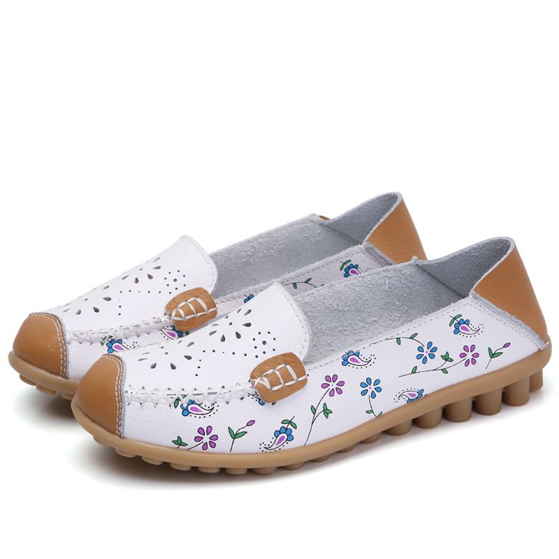 Women Flats 2017 Casual Women Driving Shoes Leather Flat Shoes Women Moccasins Loafers Ladies Shoes