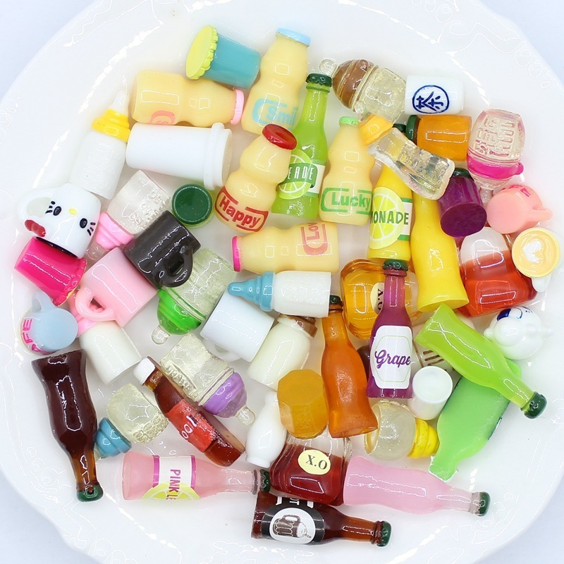 20pc Bottle Cap Chocolate Miniature Dollhouse Ornament Mini Toy Home Craft Fairy Bonsai Decor Cake Decoration DIY Accessories(China)