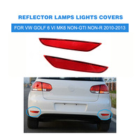 Rear Bumper Reflectors Left Right Red For VW Golf 6 VI MK6 Non GTI Non R