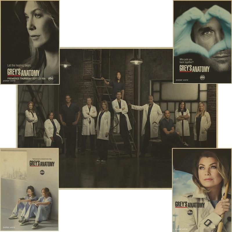 Classic TV Grey\'s Anatomy poster Retro Kraft Paper vintage Poster ...