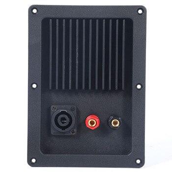2 unids/lote, altavoz profesional para escenario, caja de conexiones, conector de tablero de bornes con postes de Unión rojos y negros, apertura de 144x95mm