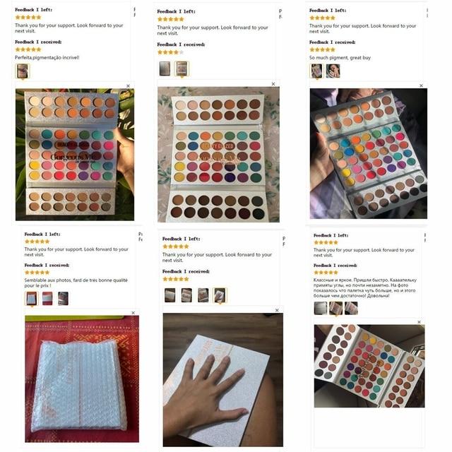 Beauty Glazed 63 Colors Fashion Eyeshadow Palette Matte Glitter Eye Shadow Makeup Nude Shinning Shadow Pigment Makeup Sombra 5
